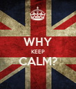 WHY KEEP CALM?  - Personalised Poster large