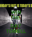WIN THE   DAY TERRELL - Personalised Poster large
