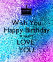 Wish You Happy Birthday KHAATI LOVE  YOU - Personalised Poster large