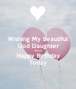 Wishing My Beautiful God Daughter Vonnie Happy Birthday Today - Personalised Poster large