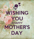 WISHING YOU A HAPPY MOTHER'S DAY - Personalised Poster large