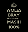 WOLES BRAY OCCUPANCY MASIH 100% - Personalised Poster large