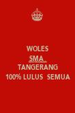 WOLES SMA  KRISTEN KANAAN TANGERANG 100% LULUS  SEMUA - Personalised Poster large