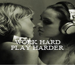 WORK HARD PLAY HARDER - Personalised Poster large