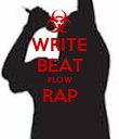 WRITE BEAT FLOW RAP  - Personalised Large Wall Decal