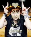 XIU MIN LOVES ME  xiumin - Personalised Poster large