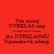 Yen mung NYEKLAS sing PUDIH NGETHAM sko NYEKLASMU Ngamehowk ndeng - Personalised Poster large
