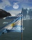 ¡YO AMO    ARGENTINA! - Personalised Poster large