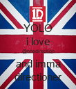YOLO i love @onedirection and imma directioner - Personalised Poster large