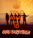 YOLO WHAT MAKES 1D BEAUTIFUL - Personalised Poster large