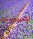 You are beautiful - Personalised Poster large