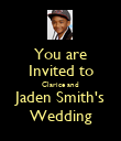 You are Invited to Clarice and Jaden Smith's Wedding - Personalised Poster large