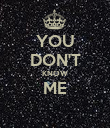 YOU DON'T KNOW ME  - Personalised Poster large