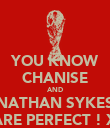 YOU KNOW CHANISE AND NATHAN SYKES ARE PERFECT ! X - Personalised Poster large