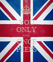 YOU ONLY LIVE ONCE PEEPS - Personalised Poster large
