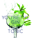YOU'RE THE GIN TO MY TONIC - Personalised Poster large