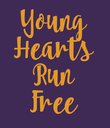 Young Hearts Run Free - Personalised Poster large