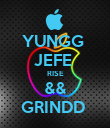 YUNGG  JEFE  RISE && GRINDD  - Personalised Poster large
