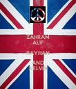 ZAHRAM ALIF RAYHAN AND KELVIN - Personalised Poster large
