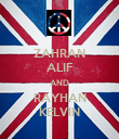 ZAHRAN ALIF AND RAYHAN KELVIN - Personalised Large Wall Decal