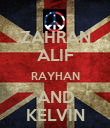 ZAHRAN ALIF RAYHAN AND KELVIN - Personalised Large Wall Decal