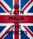 ZAYN MALIK AND THE MIRRORS - Personalised Poster large