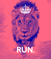 RUN. - Personalised Large Wall Decal
