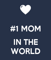 #1 MOM  IN THE WORLD - Personalised Poster large