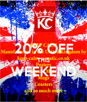20% OFF THIS WEEKEND  - Personalised Poster large