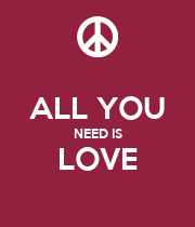 ALL YOU NEED IS LOVE  - Personalised Large Wall Decal
