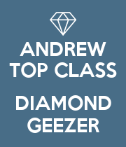 ANDREW TOP CLASS  DIAMOND GEEZER - Personalised Large Wall Decal