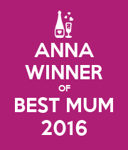 ANNA WINNER OF BEST MUM 2016 - Personalised Poster large