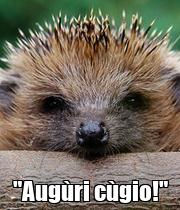 """Augùri cùgio!"" - Personalised Poster large"