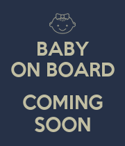 BABY ON BOARD  COMING SOON - Personalised Large Wall Decal