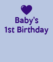 Baby's 1st Birthday    - Personalised Poster large