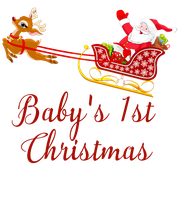 Baby's 1st Christmas  - Personalised Poster large