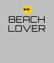 BEACH LOVER    - Personalised Poster large
