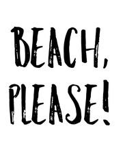 Beach, Please! - Personalised Large Wall Decal