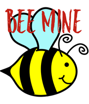 BEE MINE - Personalised Poster large