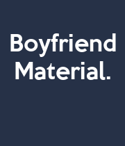 Boyfriend Material.    - Personalised Large Wall Decal