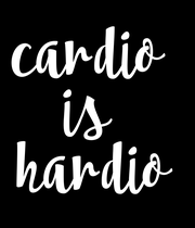 cardio  is  hardio - Personalised Large Wall Decal