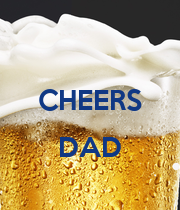 CHEERS  DAD  - Personalised Poster large