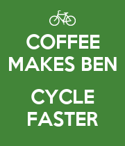 COFFEE MAKES BEN  CYCLE FASTER - Personalised Large Wall Decal