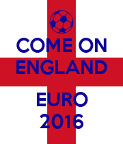 COME ON ENGLAND  EURO 2016 - Personalised Poster large