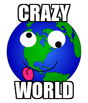 CRAZY WORLD - Personalised Poster large