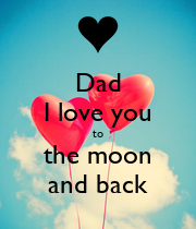 Dad I love you to the moon and back - Personalised Large Wall Decal