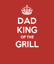 DAD KING OF THE GRILL  - Personalised Poster large