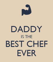 DADDY IS THE BEST CHEF EVER - Personalised Poster large