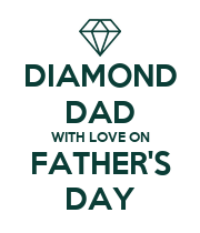 DIAMOND DAD WITH LOVE ON FATHER'S DAY - Personalised Poster large