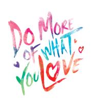 do-more-of-what-you-love-multicolour - Personalised Poster large